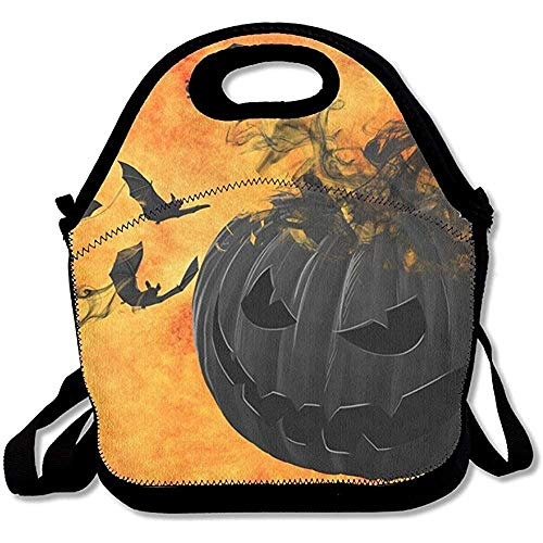 Shicongtai Halloween Pumpkin Easy Outdoor Lunch Bag Lunch Box Thermal Insulated Tote Cooler Lunch Pouch Picnic Bag Lunch Tote, for School Work Office,Gift for Women ()