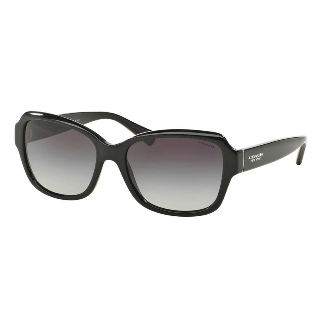 03be3446ad Amazon.com  Coach Women s HC8160 Sunglasses Black Light Grey Gradient 56mm   Clothing