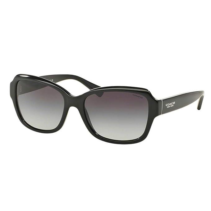 e82284aa9530 Coach Womens Sunglasses (HC8160) Black/Grey Acetate - Non-Polarized - 56mm