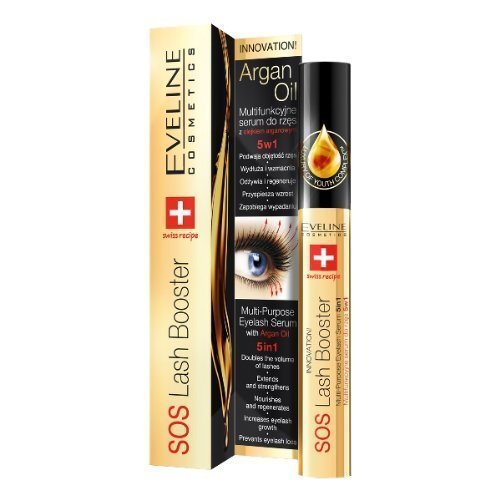 Innovation SOS Lash Booster–5in 1eyelashes natural serum for Eyelashes Belle and Long, with Argan Oil 100% 10ml VBNK