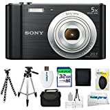 Sony Cyber-shot DSC-W800 Digital Camera (Black) + 32GB Pixi-Advanced I3ePro Accessory Bundle