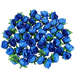Artificial & Dried Flowers - 50 Artificial Roses 3 Cm Tall Wedding Decoration Navy Blue - Artificial Flowers Dried 46