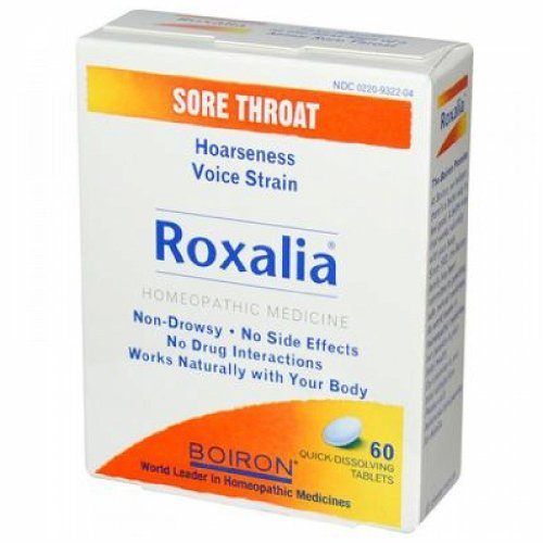 Throat Tab Sore 60 (Boiron Roxalia Sore Throat Tablets - 60 Ea, 6 Pack)