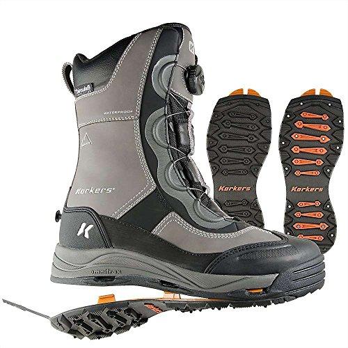 Korkers Footwear Men's Icejack Boa Insulated Winter Boot,Gun Metal,11 D US (Boots Footwear)