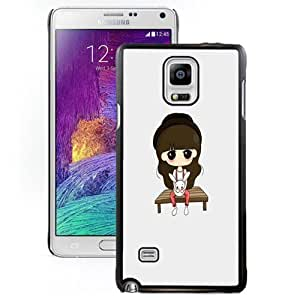 New Personalized Custom Designed For Samsung Galaxy Note 4 N910A N910T N910P N910V N910R4 Phone Case For Cartoon Little Girl Holding a Bunny Phone Case Cover