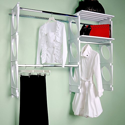 Cheap  KiO Closet Organizer System - Professional Grade - Revolutionary Single Track Design..