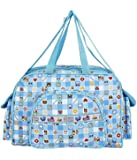 Littly Designer Multipurpose Diaper Bag/Mother Bag (Large, Sky Blue)