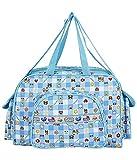 Littly Designer Multipurpose Diaper Bag/Mother Bag (Large, Sky Blue)