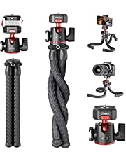 Camera Tripod Stand Flexible for Vlogging, Quick Release Ball Head Portable Camera Tripod S, Compact DSLR Vlog Selfie Stick, Lightweight Travel Tabletop Tripod Stand
