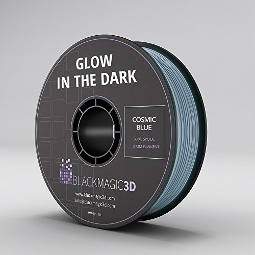 PLA Glow in the Dark Cosmic Blue 3D Printing Filament, 3 mm