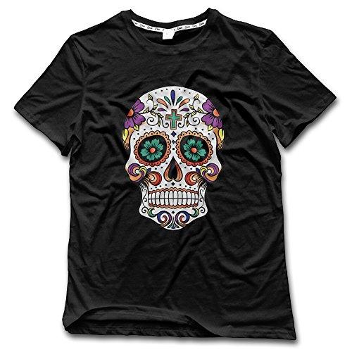 [JUNJ Men's Pretty Skull Funny T Shirts Black Size XL] (Barack Obama Face Mask)