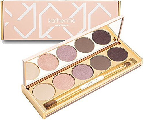 Katherine Natural Cosmetics - Natural Eye Shadow Palette - Blend, Highlight, Sparkle - Cruelty Free | Gluten Free | Paraben Free (Happy Hour) by Katherine Cosmetics