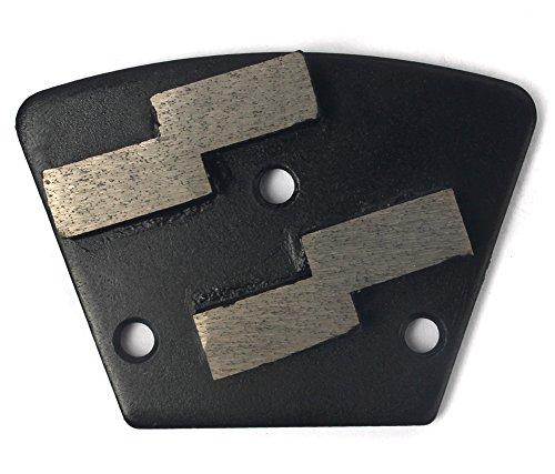 Grinding Metal Bond Disc Diamond (Trapezoid Floor Grinding Disc 3-Pcs Metal Bond Diamond Disc Grit 100 for concrete grinding)