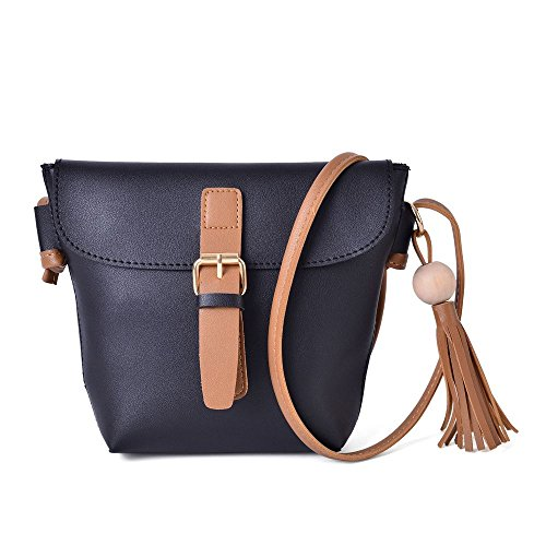 with Black and Tassels Crossbody with Bag Shoulder and Bag Tassels Crossbody Strap UwqYxP