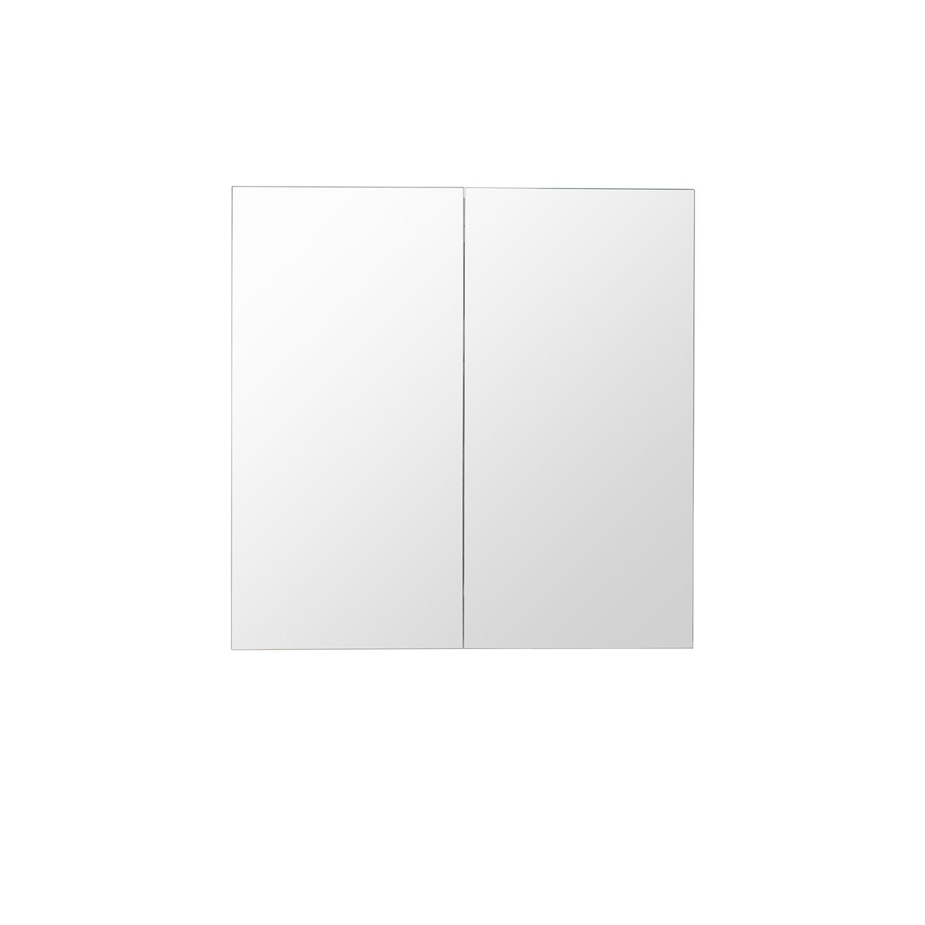 MAYKKE 24'' Heritage Double Mirror Medicine Cabinet with Sliding Doors   Wall Mounted Bathroom Storage   Stainless Steel, DJA1080101