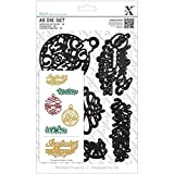 Docrafts 5-Piece Christmas Sayings Carbonised Steel A5 Die Set by docrafts