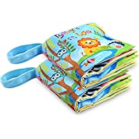 Fabric Baby Soft Activity Book, Cloth Book Baby Gift, Fun Interactive Soft Book for Babies, Infants, Boys and Girls…