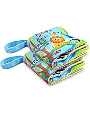 Fabric Baby Soft Activity Book, Cloth Book Baby Gift, Fun Interactive Soft Book for Babies, Infants, Boys and Girls
