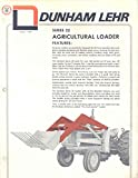 1971 Dunham Lehr 22 Loader Allis 180 Deere International Tractor Brochure