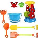 VGHJK Children's Beach Toy Car Set Large Baby Play Sand Digging Sand Shovel Shovel Cassia Baby Toys(random Color),L