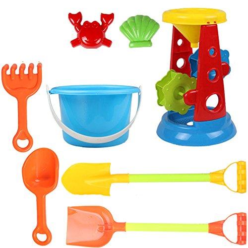 VGHJK Children's Beach Toy Car Set Large Baby Play Sand Digging Sand Shovel Shovel Cassia Baby Toys(random Color),L by VGHJK