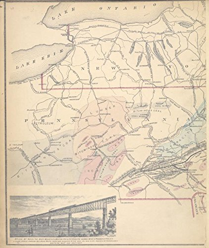 Historic 1876 Map | Bridge by which the South Mountain & Boston R.R. is to cross the | Dutchess County (N.Y.)Atlases of the United States | New illustrated atlas of - County Cross Ny
