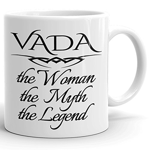 Best Personalized Womens Gift! The Woman the Myth the Legend - Coffee Mug Cup for Mom Girlfriend Wife Grandma Sister in the Morning or the Office - V Set 1