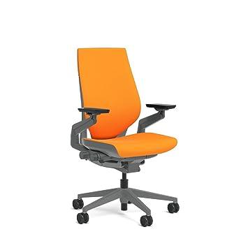 Beau Steelcase Gesture Task Chair: Wrapped Back   Sterling Dark Solid  Frame/Base/Merle