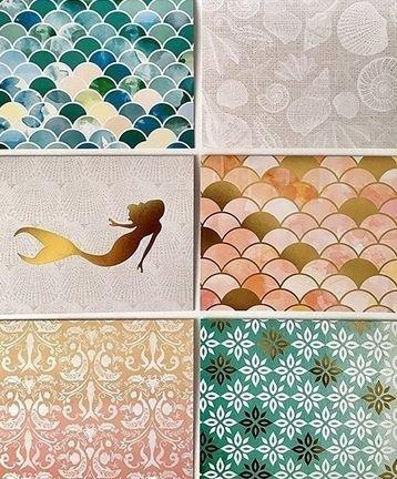 Craft smith mermaid coast cards and envelopes