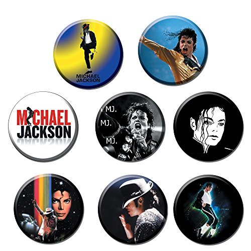Michael Jackson #1 :Pinback Buttons Round Badges 1.25 Inch (Set of ()