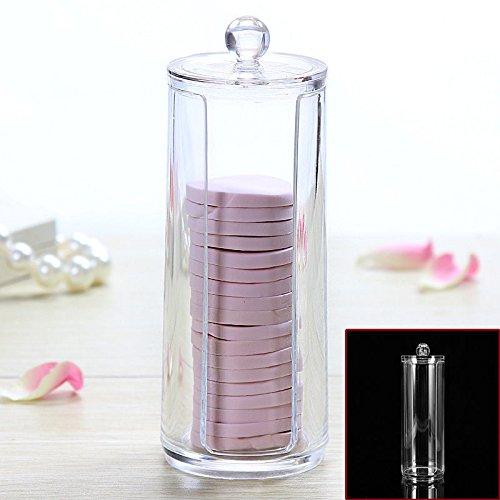 Yosoo Acrilico Organizzatore Porta Trucco Cotone Fioc Cosmetic Organizer Espositore ,trasparente contenitore per dischetti di cotone, make up Pads