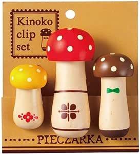 Kawaii Set 3 Unidades Linda Pinza con Hongo Seta Colores de Japón: Amazon.es: Juguetes y juegos