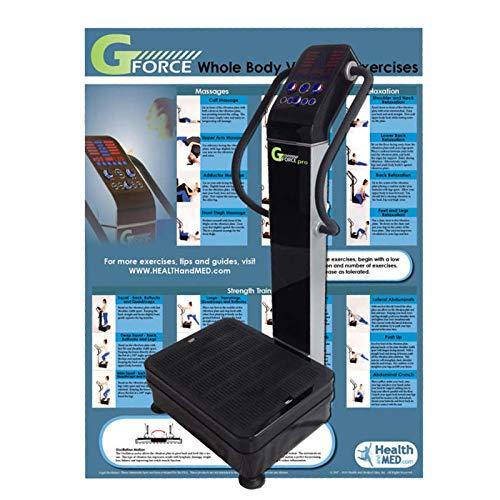 GForce Whole Body Vibration Machine Exercise Chart