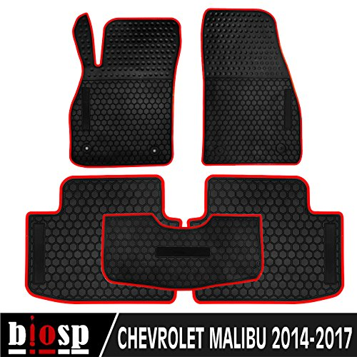 (biosp Fit For 2014-2017 Chevy Malibu Runner Front and Rear Floor Mats Set Heavy Duty Rubber Car Carpet)