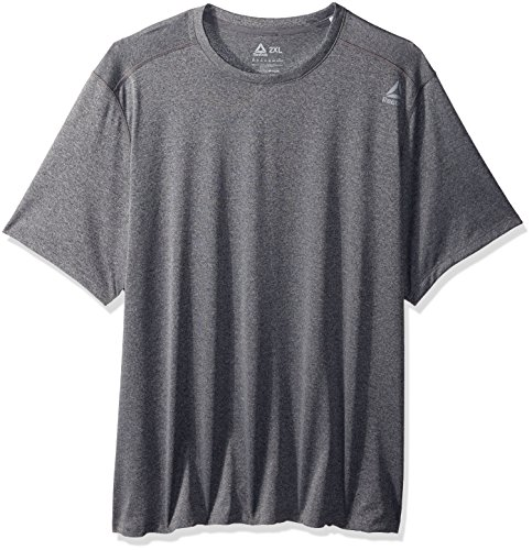 Reebok Men' Melange Short Sleeve Tee, Alloy s, XX-Large