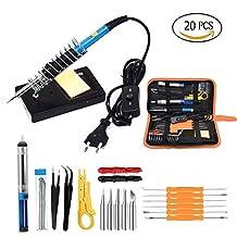 60W 110V Electric Soldering Iron Set Temperature Adjustable Welding Portable Repair Tool 5pcs Soldering Iron Tip, Soldering Iron Stand
