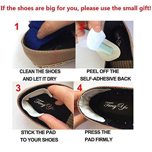 Tengyu Flats Shoes Women's Espadrilles Original Slip On Loafer Shoes Classic Canvas Comfort Alpargatas(US8=EU39=24.5CM) by Tengyu (Image #2)