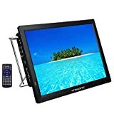 Trexonic Portable Rechargeable 14'' LED TV with HDMI, SD/MMC, USB, VGA, AV in/Out and Built-in Digital Tuner