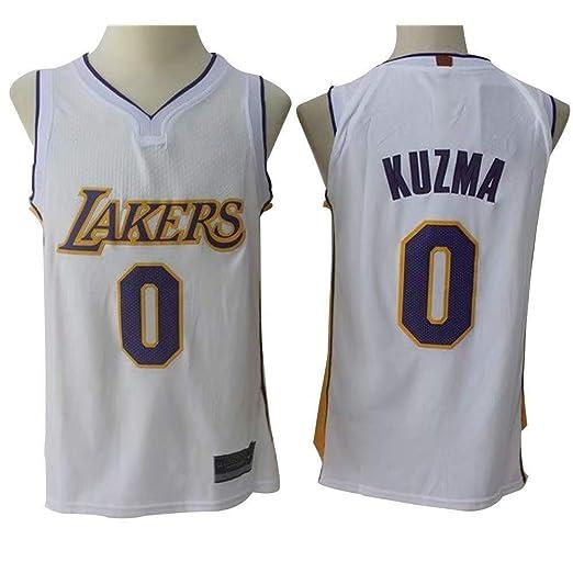 CCKWX Los Angeles Lakers # 0 Kuzma Camisetas De Baloncesto, Malla ...