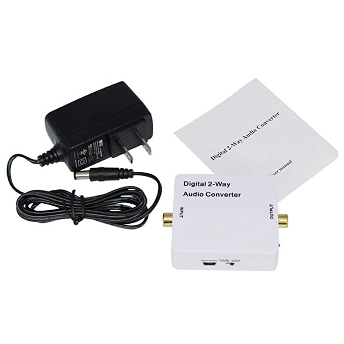 HopCentury 2-Way Audio bidireccional adaptador convertidor óptico SPDIF TOSLINK/Coaxial Audio Switcher divisor de amplificador de señal: Amazon.es: ...