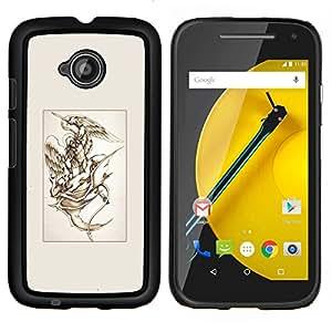 LECELL--Funda protectora / Cubierta / Piel For Motorola Moto E2 E2nd Gen -- Michael Diablo Lucha Arte --