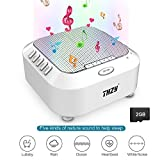 White Noise Machine, Sleep Sound Machine with 5 Nuture Sounds and Nightlight Mode, Playing All Night & Timer Option, Sleep Therapy for Baby,Kids, Adults (Include 2G TF Card)