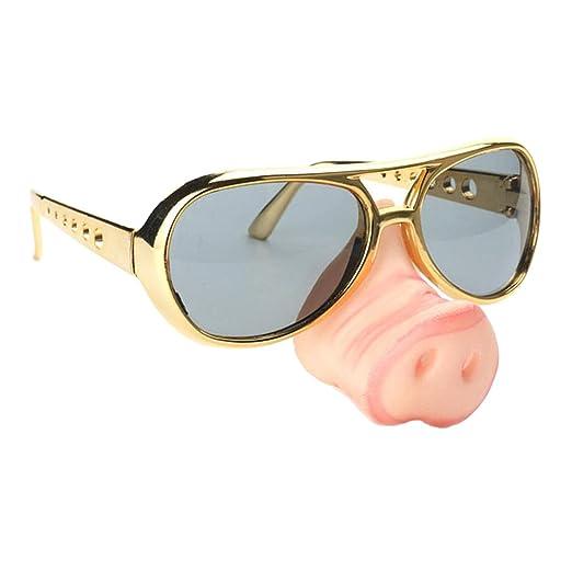 43a292dd200 HOMYL 2pcs Fashion Pig Nose Big Nose Old Man Sunglasses Funny Fancy Dress  Glasses Eyewear Party Photo Props  Amazon.com.au  Toys   Games
