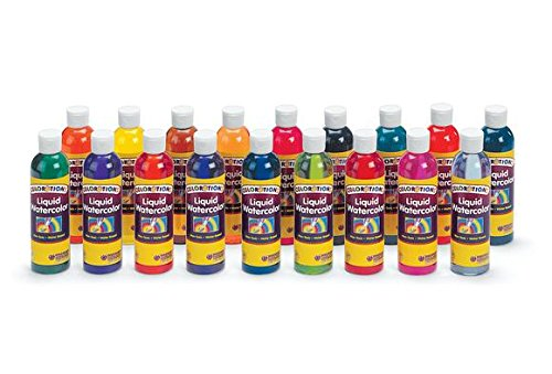 Colorations Liquid Watercolor (Colorations Liquid Watercolor Paints, 8 oz. - Set of 18 (Item # LW18))