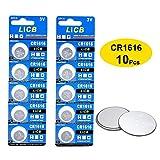 honda accord remote key battery - LiCB 10 Pack CR1616 3V Lithium Battery CR 1616