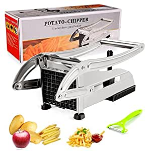 Toogou French Fry Cutter With 2 Stainless Steel Blades For Easy Slicing Potato, Vegetables, and Fruit