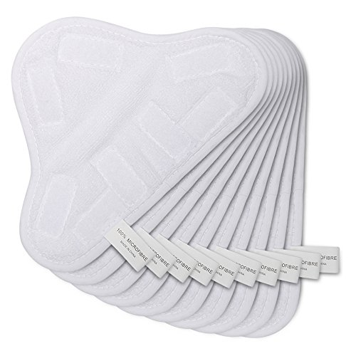 HIFROM(TM) New 10pcs Replacement Pads For H2O H20 X5 Steam Mop Cleaner Floor Washable Microfibre Pads (H2o X5 Steam Mop)