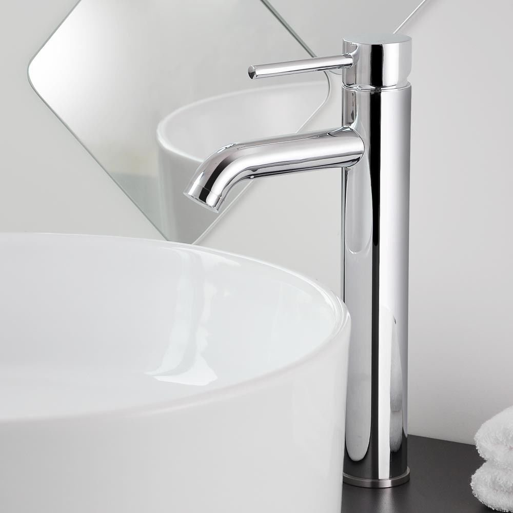 12'' Modern Slick Bathroom Faucet Made of High Quality Brushed Nickel