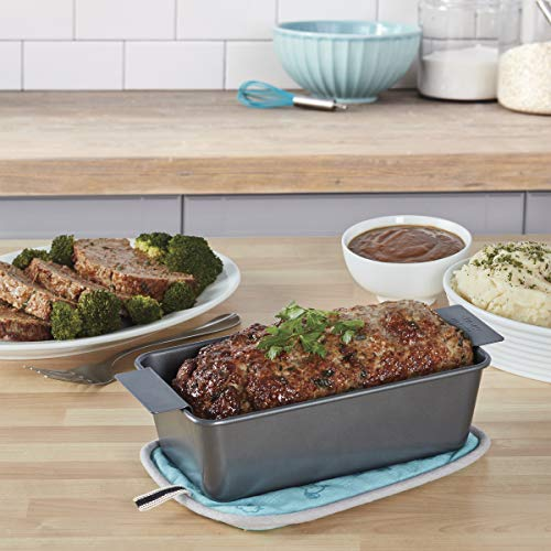 Chicago Metallic Professional Non-Stick 2-Piece Healthy Meatloaf Set, 12.25-Inch-by-5.75-Inch by Chicago Metallic (Image #1)