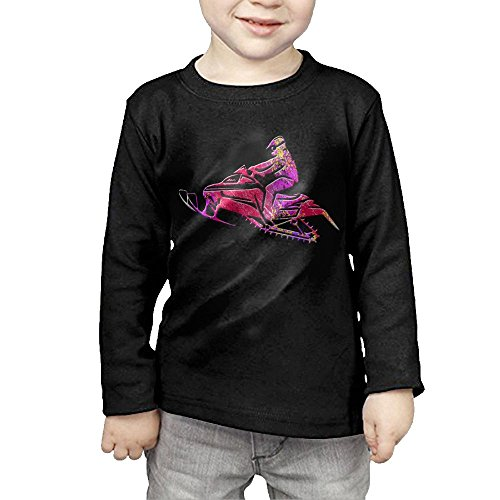 Cjoakafa Distressed Platinum Snowmobile Motorbike Colorful Kids Cotton Long Sleeve T-Shirts Top Tee 2 Toddler